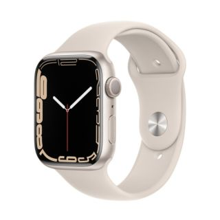 Apple Watch Series 7 45mm GPS - Starlight Aluminum Case With Starlight Sport Band