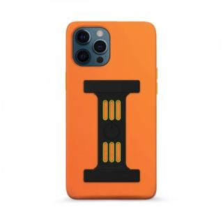 Goui Magnetic Case for iPhone 12 - 12 Pro with Magnetic Bars - Sunset Orange