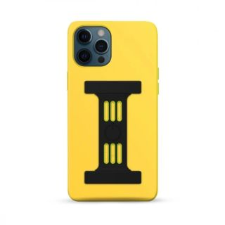 Goui Magnetic Case for iPhone 12 - 12 Pro with Magnetic Bars - Sunshine Yellow