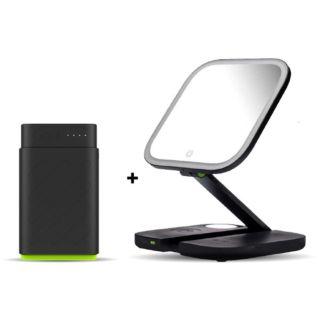 Goui Von Multifunction Mirror Wireless Charger + Speaker + Lamp with Free Power Bank 10000mAh - Black (G-MIRRORPD-K)