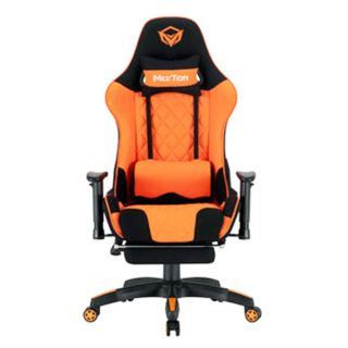 MEETION Gaming Chair With Adjustable Handrail - Black Orange (MT-CHR25 BO)