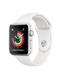 Apple Watch S3 42MM GPS - Silver Aluminum Case with White Sport Band MTF22