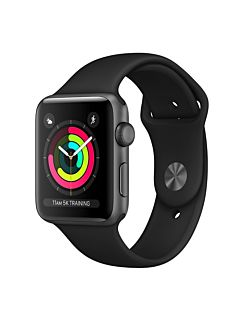 Apple Watch S3 42MM GPS - Space Gray Aluminum Case with Black Sport Band MTF32
