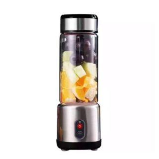 Stainless Steel  Portable Juicer Blender Electric Fruit Juice Mixer - Black (DDZ-88 B)