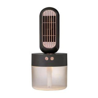 V8 USB Rechargeable Humidifier Portable Fan Black