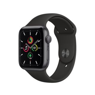 Apple Watch SE GPS 44mm Space Gray Aluminium Case with Black Sport Band (MYDT2ZP/A)