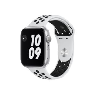 Apple Watch Series 6 Nike GPS 44mm Silver Aluminium Case with Pure Platinum/Black Nike Sport Band (MG293)