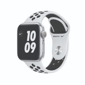 Apple Watch Series 6 Nike GPS 40mm Silver Aluminium Case with Pure Platinum/Black Nike Sport Band  (M00T3)
