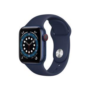 Apple Watch Series 6 GPS+Cellular 40mm Blue Aluminium Case with Deep Navy Sport Band (M02R3)