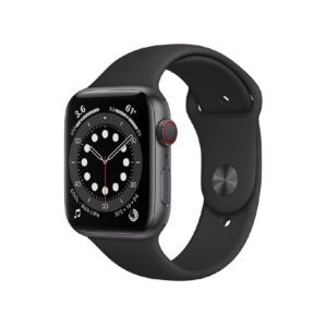 Apple Watch Series 6 GPS + Cellular 44mm Space Grey Aluminium Case with Black Sport Band (MG2E3ZP/A )