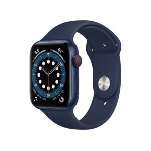 Apple Watch Series 6 GPS + Cellular, 44mm Blue Aluminium Case with Deep Navy Sport Band (M09A3ZP/A)